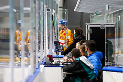 Stevan Michele of Migros Supermercati Asiago during 3rd leg of ic hockey game between HK SZ Olimpija Ljubljana and Asiago Hockey in Final of Alps Hockey League 2020/21, on April 24, 2021 in Hala Tivoli, Ljubljana, Slovenia. Photo by Matic Klansek Velej / Sportida