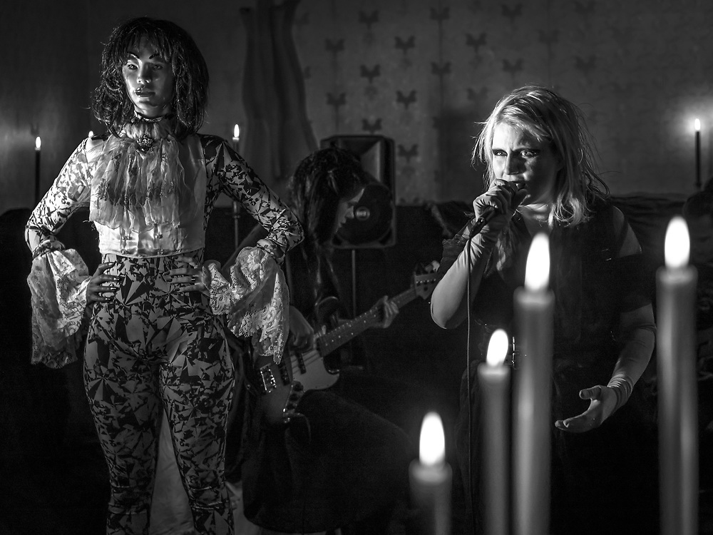 Katrína Mogensen of Icelandic indie-rock band Mammút with a secret gig during Iceland Airwaves