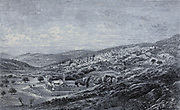 Nazareth  cityscape From the book 'Those holy fields : Palestine, illustrated by pen and pencil' by Manning, Samuel, 1822-1881; Religious Tract Society (Great Britain) Published in 1874