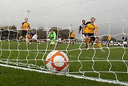 Falkirk's Farid El Alagui scoring their second goal..Annan Athletic 0 v 3 Falkirk. Semi Final of the Ramsdens Cup, 9/10/2011..Pic © Michael Schofield.