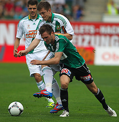 29.04.2012, Keine Sorgen Arena, Ried, AUT, 1. FBL, SV Josko Ried vs SK Rapid Wien, 32. Spieltag, im Bild Deni Alar, (SK Rapid Wien, #33) und Emanuel Schreiner, (SV Josko Ried, #19), during the Austrian Bundesliga Match, 32nd Round, between SV Josko Ried and SK Rapid Wien at the Keine Sorgen Arena, Ried, Austria on 20120429. EXPA Pictures © 2012, PhotoCredit: EXPA/ R. Hackl