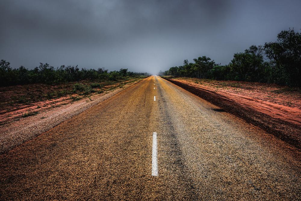 Fog at Broome-Cape Leveque, Western Australia.