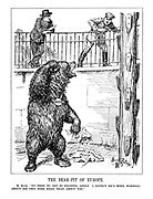 """The Bear-Pit of Europe. M. Blum. """"No need to get so excited, Adolf. I expect he's more worried about his own sore head than about you."""""""