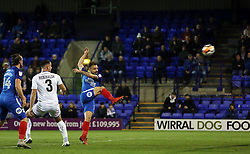 Danny Lloyd of Peterborough United scores his second goal of the game - Mandatory by-line: Joe Dent/JMP - 15/11/2017 - FOOTBALL - Prenton Park - Birkenhead, England - Tranmere Rovers v Peterborough United - Emirates FA Cup first round replay