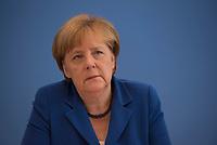 DEU, Deutschland, Germany, Berlin, 28.07.2016: Bundeskanzlerin Dr. Angela Merkel (CDU) in der Bundespressekonferenz zu aktuellen Themen der Innen- und Aussenpolitik.