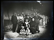 family group portrait celebrating boy communication France 1923