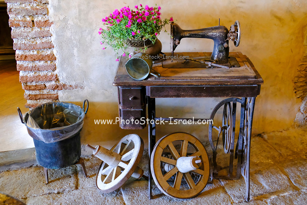 Old vintage feet operated sewing machine