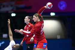 Line Haugsted. EHF Euro 2020 Group A match between France and Denmark in Jyske Bank Boxen, Herning, Denmark on December 8, 2020. Photo Credit: Allan Jensen/EVENTMEDIA.