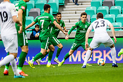 Savic Stefan of NK Olimpija Ljubljana vs Josip Tomasevic of NK Rudar Velenje during football match between NK Olimpija Ljubljana and NK Rudar Velenje in 25rd Round of Prva liga Telekom Slovenije 2018/19, on April 7th, 2019 in Stadium Stozice, Slovenia Photo by Matic Ritonja / Sportida