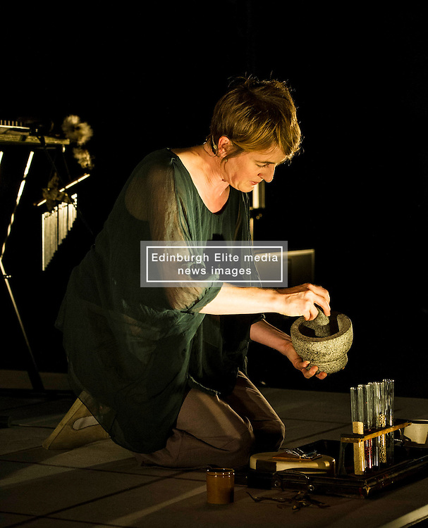 Karine Polwart prepares fro the world premiere of Wind Resistance at the Edinburgh Festival.<br /> <br /> (c) Ger Harley   Edinburgh Elite media