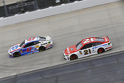 May 6, 2018 - Dover, Delaware, United States of America - AJ Allmendinger (47) and Paul Menard (21) battle for position during the AAA 400 Drive for Autism at Dover International Speedway in Dover, Delaware. (Credit Image: © Chris Owens Asp Inc/ASP via ZUMA Wire)
