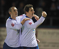 Fotball<br /> England<br /> Foto: Colorsport/Digitalsport<br /> NORWAY ONLY<br /> <br /> Joel Porter (Hartlepool United) celebrates his penalty<br /> Hartlepool United vs Leicester City at Victoria Park Hartlepool Football League one<br /> 17/02/2009