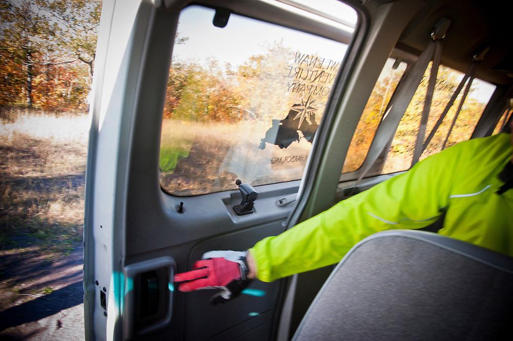 Shuttle rides from Keweenaw Adventure Company while mountain biking in Copper Harbor Michigan Michigan's Upper Peninsula.