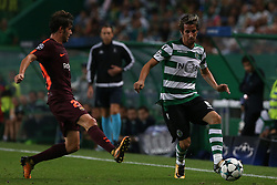 September 27, 2017 - Lisbon, Lisbon, Portugal - Sportings defender Fabio Coentrao from Portugal (R) and Barcelonas midfielder Sergi Roberto from Spain (L) during the match between Sporting CP v FC Barcelona UEFA Champions League playoff match at Estadio Jose Alvalade on September 27, 2017 in Lisbon, Portugal. (Credit Image: © Dpi/NurPhoto via ZUMA Press)