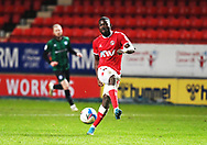 Charlton's Adedeji Oshilaja during the EFL Sky Bet League 1 match between Charlton Athletic and Rochdale at The Valley, London, England on 12 January 2021.