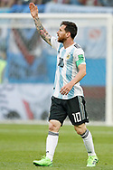 Lionel Messi of Argentina during the 2018 FIFA World Cup Russia, Group D football match between Nigeria and Argentina on June 26, 2018 at Saint Petersburg Stadium in Saint Petersburg, Russia - Photo Stanley Gontha / Pro Shots / ProSportsImages / DPPI