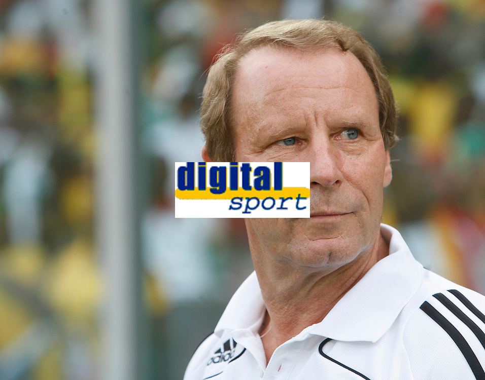 Photo: Steve Bond/Richard Lane Photography.<br />Ghana v Nigeria. Africa Cup of Nations. 03/02/2008. Bertie Vogts takes in the surroundings