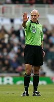 Photo: Andrew Unwin.<br /> Middlesbrough v Tottenham Hotspur. The Barclays Premiership. 18/12/2005.<br /> The referee, Howard Webb.