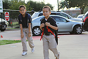 HISD First day of school August 27, 2012 at Walnut Bend Elementary.