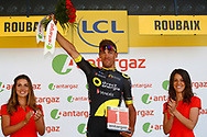 Podium, Hotess, Miss, Damien Gaudin (FRA - Direct Energie) during the 105th Tour de France 2018, Stage 9, Arras Citadelle - Roubaix (156,5km) on July 15th, 2018 - Photo Luca Bettini / BettiniPhoto / ProSportsImages / DPPI