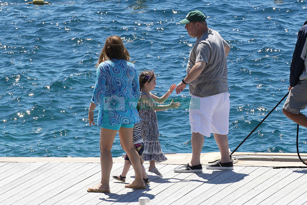 Please Hide The Child's Face Prior To The Publication - American producer Harvey Weinstein with his wife Georgina Chapman and their children Dashiell Weinstein and India Pearl Weinstein arriving at Hotel Eden Roc in Antibes, France on May 22, 2015 during the 68th Cannes Film Festival. Photo by ABACAPRESS.COM    501621_006 Antibes France