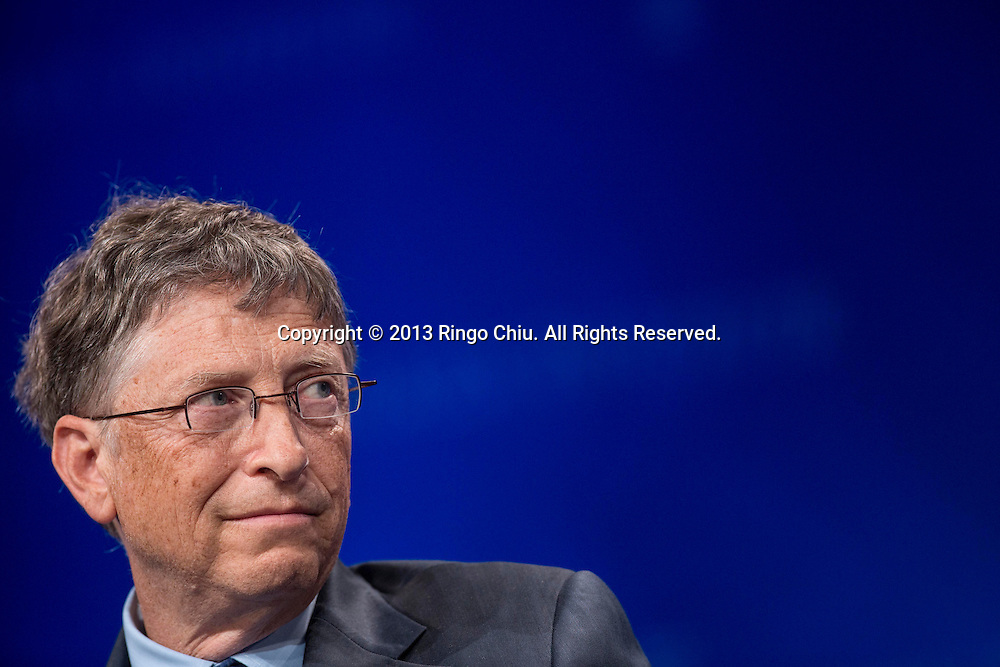 """Bill Gates, co-Chair and Trustee, Bill & Melinda Gates Foundation, speaks in a panel """"Investing in African Prosperity"""" during the Milken Institute Global Conference on Wednesday, May 1, 2013 in Beverly Hills, California. (Photo by Ringo Chiu/PHOTOFORMULA.com)."""