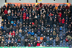 South stand. Falkirk 3 v 0 Dundee United, Scottish Championship game played 11/2/2017 at The Falkirk Stadium.