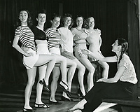 1947 Dance practice at the Hollywood Studio Club