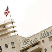 Vakantie 2015, Miami, hotel Seaview en een wappernede Amerikaanse vlag