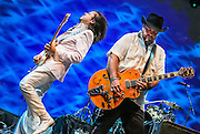 Eddie Perez and Raul Malo of The Mavericks at Lincoln Center Out of Doors, NYC 7/29/15