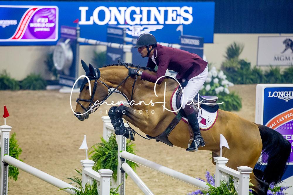 Sheikh Ali Al Thani Bin Khalid, QAT, First Devision<br /> World Cup Final Jumping - Las Vegas 2015<br /> © Hippo Foto - Dirk Caremans<br /> 19/04/2015