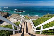 Stairs at La Jolla Beach in San Diego County California
