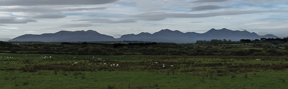 The MacGillycuddy Reeks in profile (Black Stacks), Killarney, Co.Kerry.<br /> A walkers paradise.