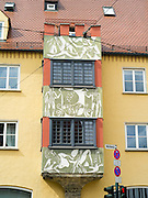 Along Milchberg Street in Augsburg, Bavaria, Germany