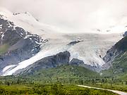 Valdez, Alaska.  Worthington Glacier-Melting Back