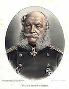 Wilhelm I, King of Prussia and Emperor of Germany (1797-1888) Tinted lithograph c1880