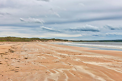 Scenic view of beach at Gullane, Scotland, UK