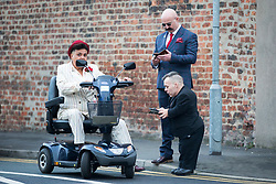 © Licensed to London News Pictures. 14/11/2017. Wakefield UK. Wedding guest's at the wedding of Ex Coronation Street actress Paula Williamson & Britains most violent prisoner Charles Bronson at Wakefield prison. Photo credit: Andrew McCaren/LNP