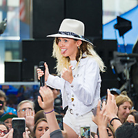 Miley Cyrus performs on NBC's The Today Show