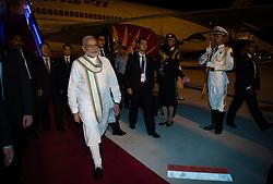 HANGZHOU, Sept. 3, 2016 (Xinhua) -- Indian Prime Minister Narendra Modi arrives in China's eastern city of Hangzhou to attend the 11th Group of 20 (G20) summit, Sept. 3, 2016. (Xinhua/Li Xiang)(mcg) (Credit Image: © Li Xiang/Xinhua via ZUMA Wire)