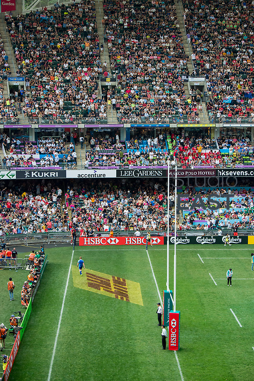 Trophy ceremony of Fiji vs South Africa during their HSBC World Rugby Sevens Series Cup Final match  as part of the Cathay Pacific / HSBC Hong Kong Sevens at the Hong Kong Stadium on 09 April 2017 in Hong Kong, China. Photo by Kitman / Future Project Group