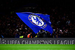 A Chelsea flag waves - Mandatory by-line: Ryan Hiscott/JMP - 10/12/2019 - FOOTBALL - Stamford Bridge - London, England - Chelsea v Lille - UEFA Champions League group stage