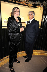 ALIZA MOUSSAIEFF and BERNIE ECCLESTONE at a party to celebrate the launch of a collection of jewellery by Tamara Ecclestoen for jewellers Moussaieff held at their store in New Bond Street, London on 9th December 2008.