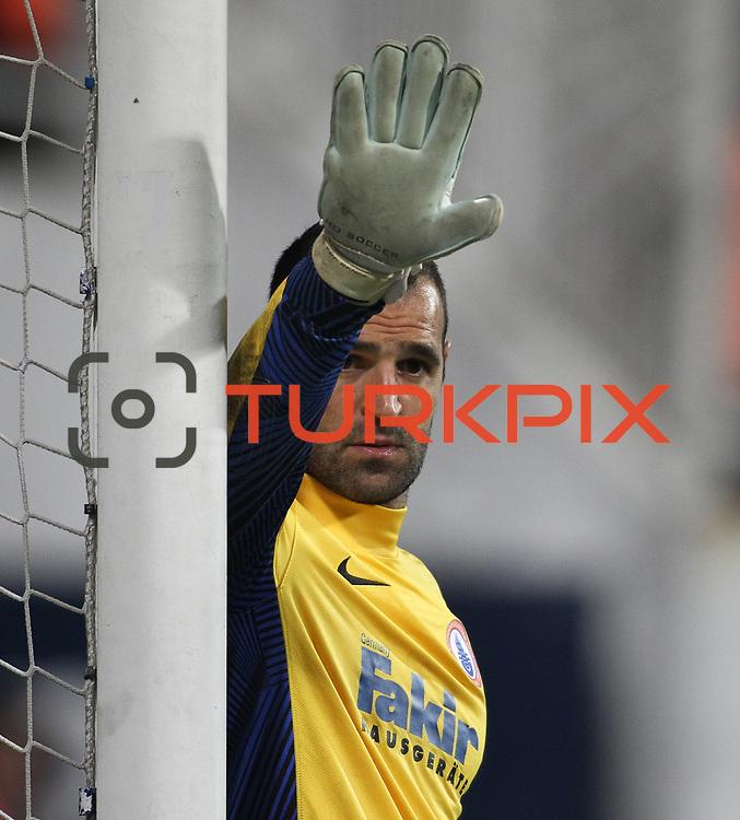 istanbul BBSK's goalkeeper Eduardo Carvalho during their Turkish superleague soccer match Besiktas between istanbul BBSK at the BJK Inonu Stadium in Istanbul Turkey on Saturday, 19 January 2013. Photo by Aykut AKICI/TURKPIX
