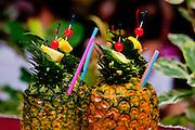 Pinapple drink at a Luau in Hawaii