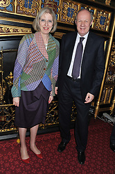 The Home Secretary THERESA MAY MP and the Justice Minister DAMIEN GREEN MP at a reception for the Stephen Lawrence Charitable Trust hosted by the Speaker of The House of Commons John Bercow and supported by law firm Freshfields Bruckhaus Deringer in The State Rooms, Speaker's House, the House of Commons, London on 19th December 2012.