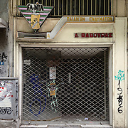 A closed down children's clothes shop in  Filippou Str, Thessaloniki.