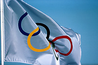 Olympiske leker, 05.12.2001 Salt Lake City, USA,<br />Feature Olympische Winterspiele. Die Olympischen Ringe. Illustrasjonsfoto.<br />Foto: Digitalsport