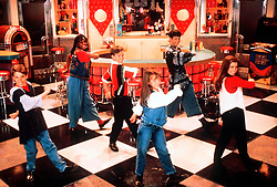 Jun 30, 2000; Los Angeles, CA, USA; FILE PHOTO; BRITNEY SPEARS (center) and 'N Sync's JUSTIN TIMBERLAKE (3rd left) dance on The Disney Channel's ''Where Did You MMC Them First?'' where they starred from 1992 to 1993..  (Credit Image: ZUMA Press/ZUMAPRESS.com)