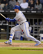 CHICAGO - MAY 16:  Justin Smoak #14 of the Toronto Blue Jays bats against the Chicago White Sox on May 16, 2019 at Guaranteed Rate Field in Chicago, Illinois.  (Photo by Ron Vesely)  Subject:  Justin Smoak